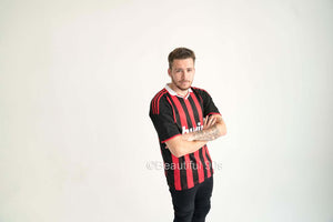 2009-2010 AC Milan home retro replica football shirt