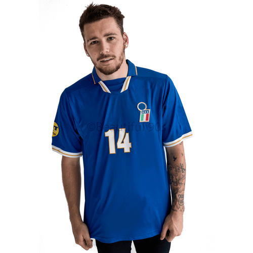 1996-1997 Italy Euros home replica retro football shirt
