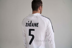 2006 Long Real Madrid home white retro replica football shirt