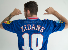 Load image into Gallery viewer, 1996 France European Cup Zidane replica retro football shirt