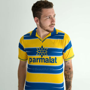 1998-1999 Parma Crespo Veron home short sleeve replica retro football shirt