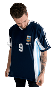 1998 Argentina away replica retro football shirt