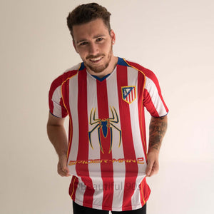 2004 Atletico Madrid home replica retro football shirt