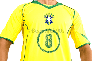 2004-2006 Brazil home retro replica football shirt