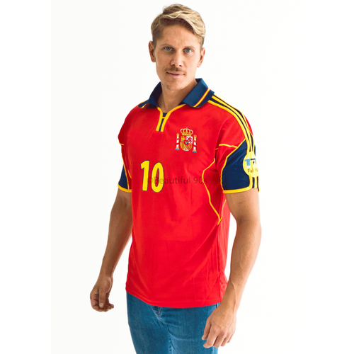 2000 Spain home replica retro football shirt