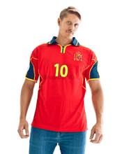 Load image into Gallery viewer, 2000 Spain home replica retro football shirt