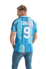 Load image into Gallery viewer, 1995-1997 Barcelona away blue retro replica football shirt