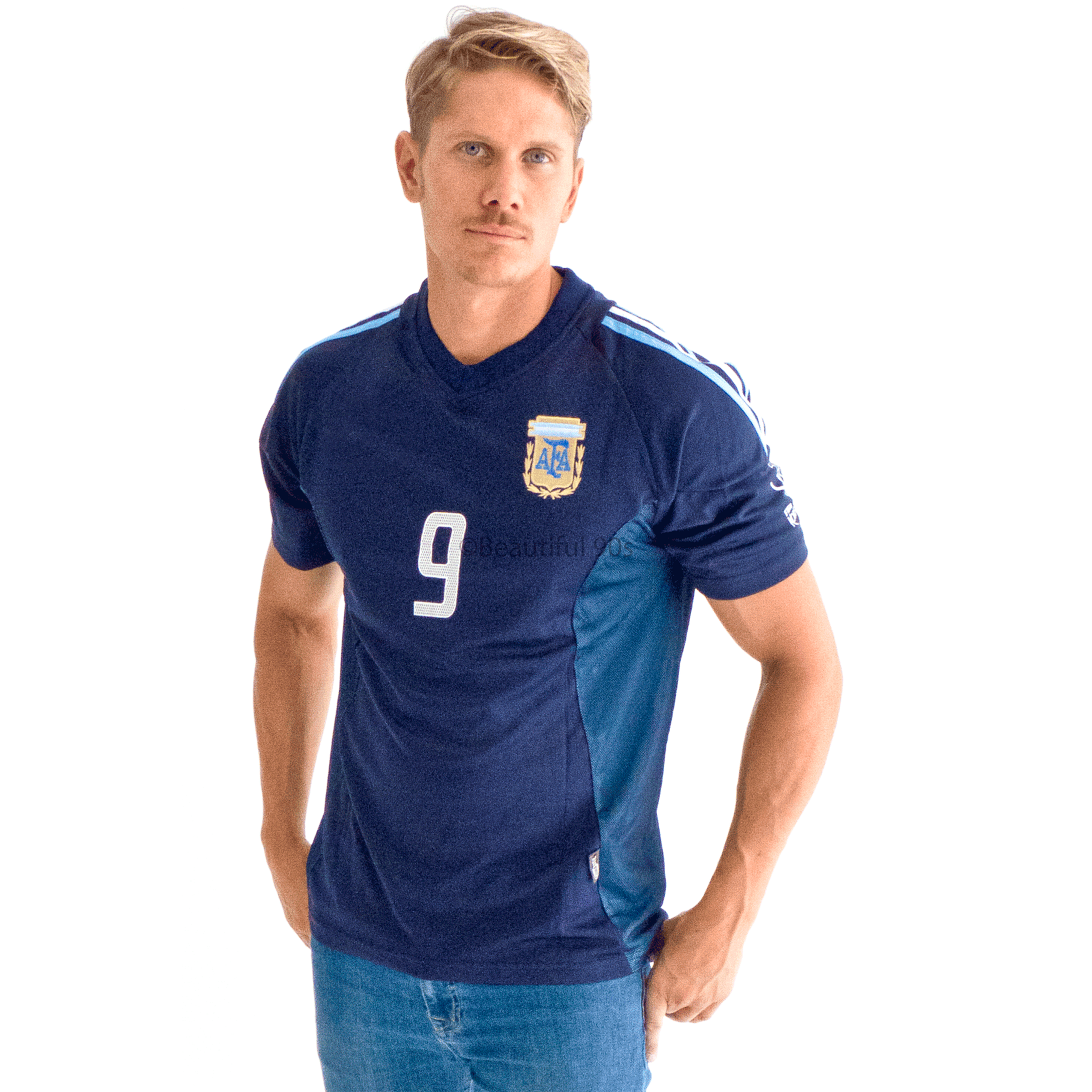 2002 Argentina away replica retro football shirt