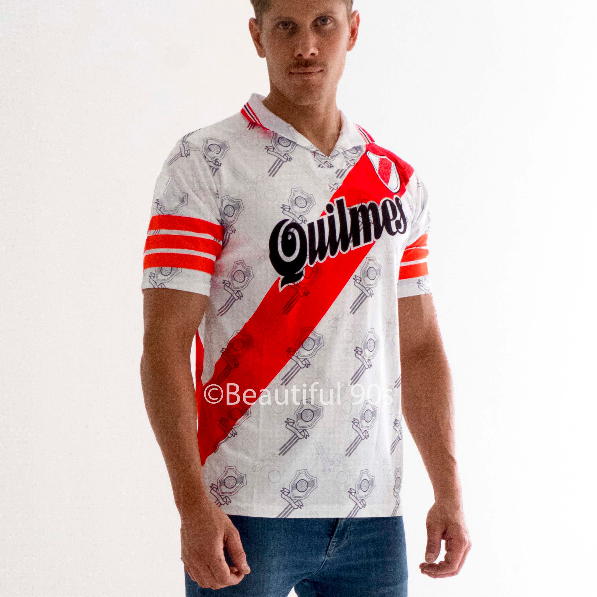 1996-1997 River Plate Quilmes replica retro football shirt