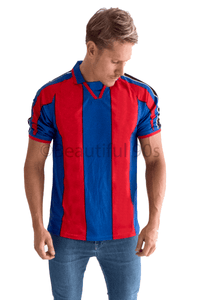 1995-1997 Barcelona home retro replica football shirt