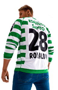 2002-2003 Lisbon Ronaldo long sleeve replica retro football shirt