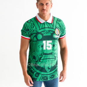 1998 Mexico aztec retro replica football shirt