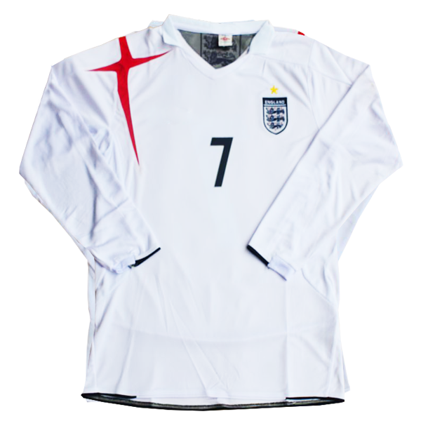 2006 World Cup England long sleeve home shirt