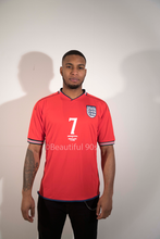 Load image into Gallery viewer, 2002 England Away replica retro football shirt