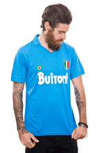 Load image into Gallery viewer, 1987-1988 Maradona Napoli home replica retro football shirt