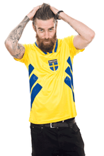 Load image into Gallery viewer, 1994-1996 Sweden home replica retro football shirt