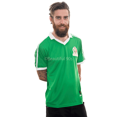 1986 Mexico home retro replica football shirt