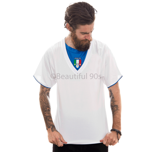 2006 Italy away white replica retro football shirt