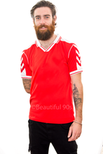 Load image into Gallery viewer, 1998 Denmark home replica retro football shirt