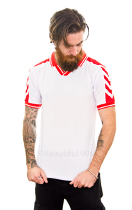 1998 Denmark away replica retro football shirt