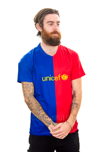 2008-2009 Barcelona Unicef home replica retro football shirt