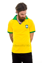 Load image into Gallery viewer, 1957 Brazil Pele home replica retro football shirt