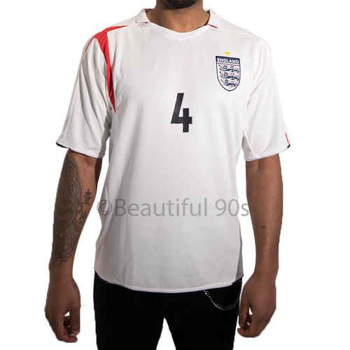 2006 England replica retro football shirt