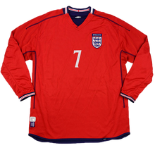 Load image into Gallery viewer, 2002-2004 England long sleeve away shirt