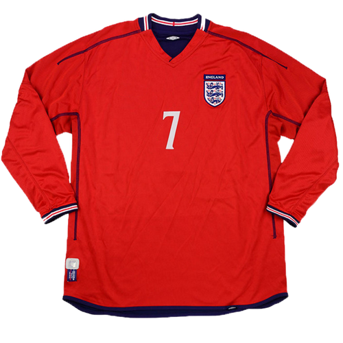 2002-2004 England long sleeve away shirt