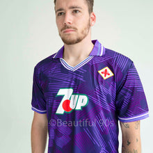 Load image into Gallery viewer, 1992 Fiorentina 7up retro replica football shirt