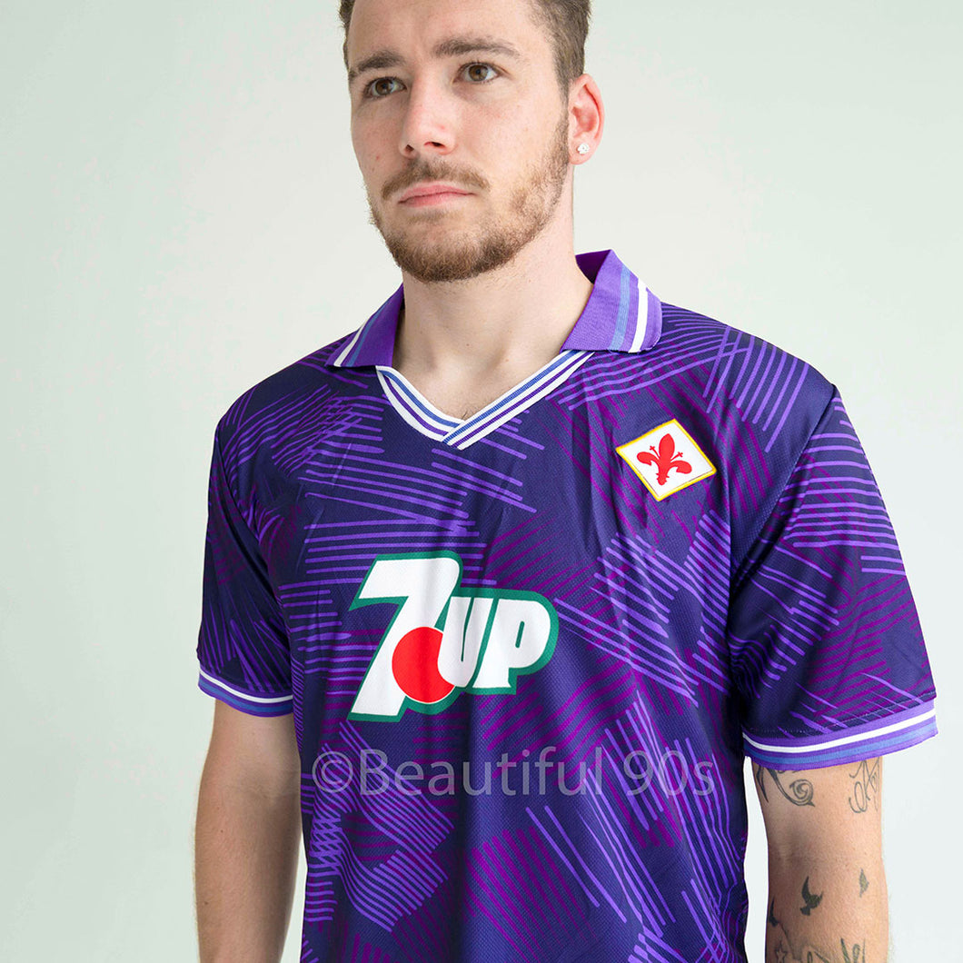 1992 ACF Fiorentina 7up retro replica football shirt