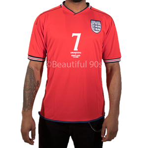 2002 England Away replica retro football shirt