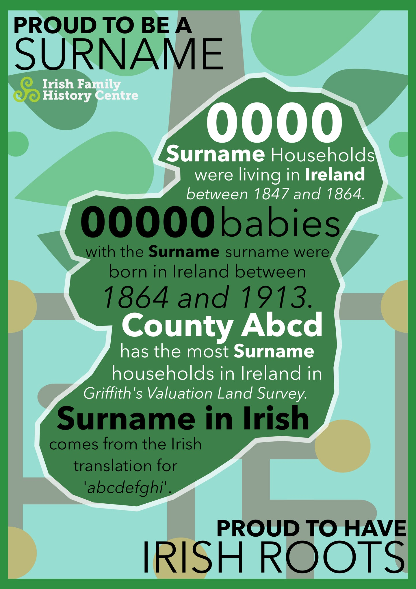 'Walsh' Irish Surname Poster