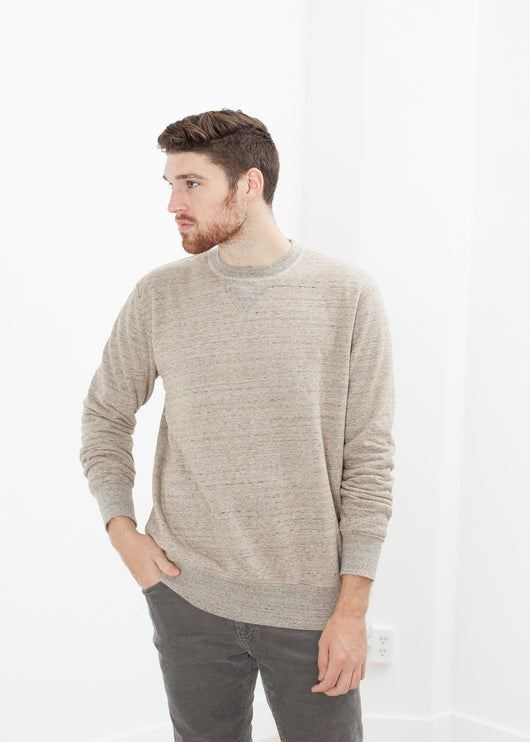 Jeth Sweatshirt in Grey/Rust