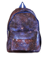 Hiveaxon Blue & Brown Printed Backpack