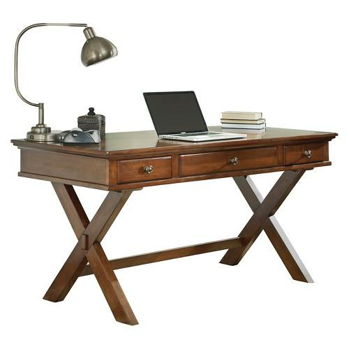 Burkes Medium Brown Home Office Desk