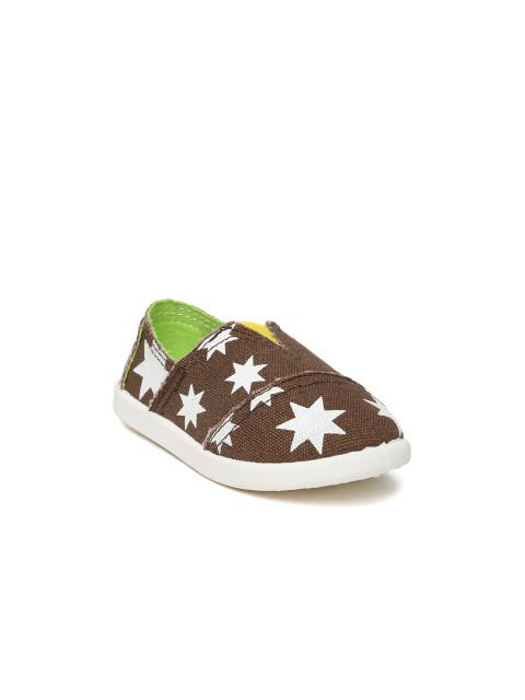 Dunsinky Brown Printed Casual Shoes