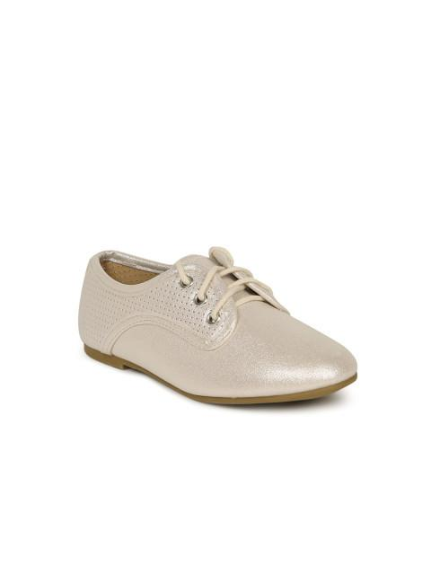 Dunsinky Silver-Toned Glossy Casual Shoes