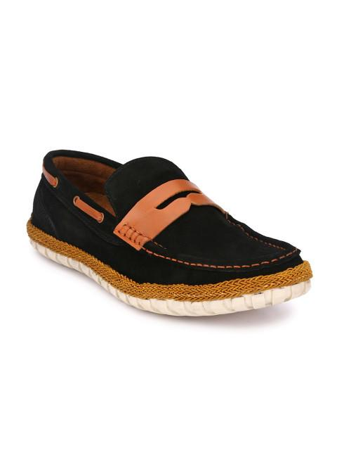 Fastalas Black Suede Boat Shoes