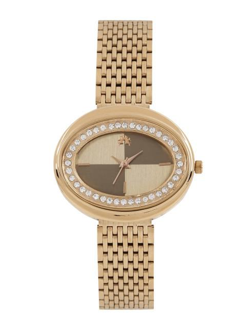 Arumkick Copper-Toned Embellished Analogue Watch