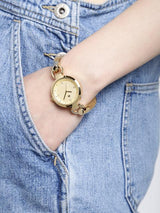 Arumkick Gold-Toned Analogue Watch