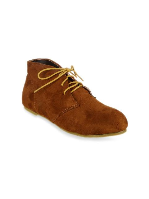 Scamanus Brown Solid Casual Shoes
