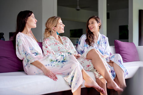 Floral Kimono Robes - The Mariposa Collection