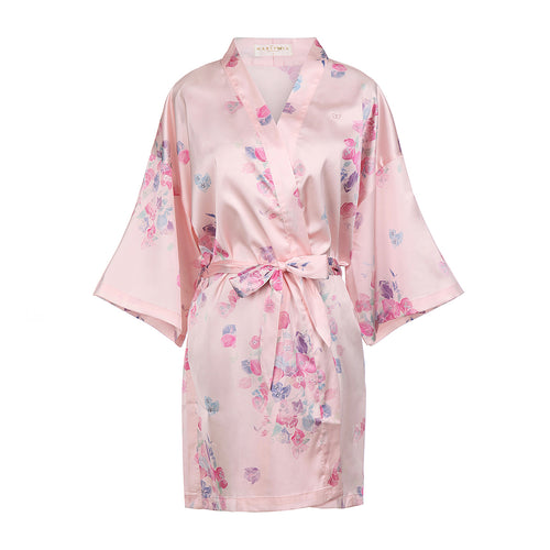 Stunning satin floral kimono robes by The Mariposa Collection. Beautifully gift wrapped and ready to wear for any occasion.