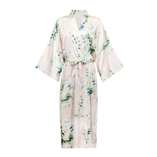 Kimono Robe - Amaryllis (Ankle) - The Mariposa Collection
