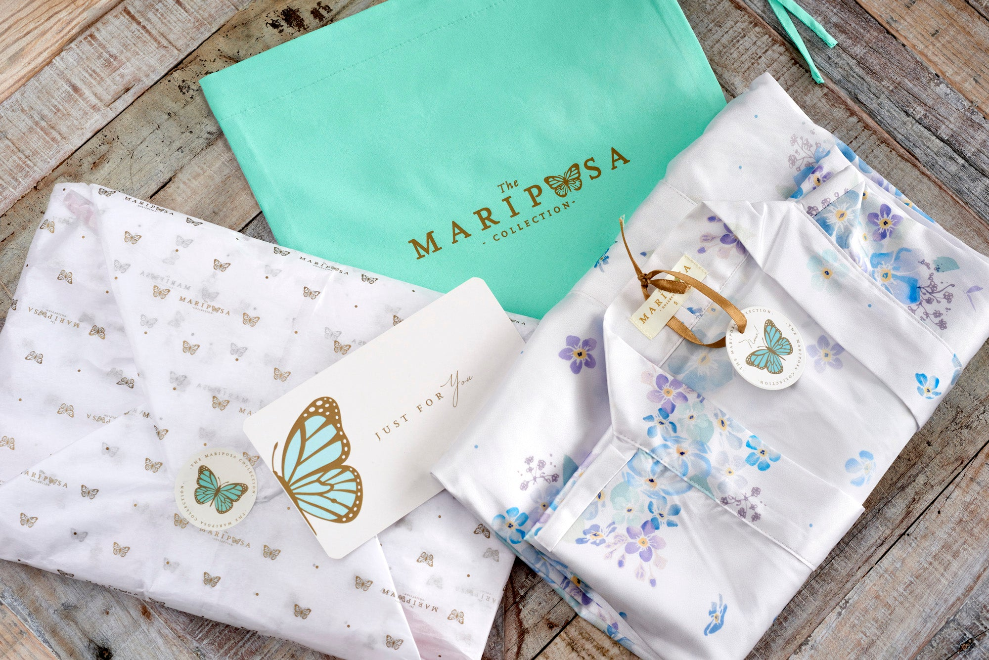 Floating Forget-Me-Nots (Midi) - The Mariposa Collection