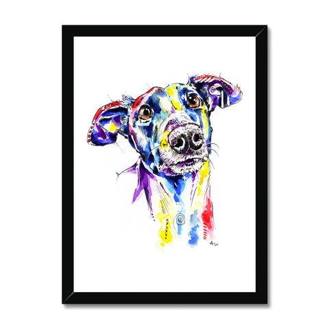Greyhound Framed Prints - 'Rhea'