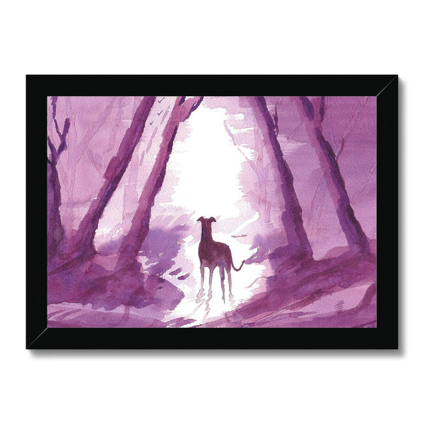 Greyhound Framed Prints - 'Hurry Up'
