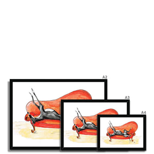 framed greyhound print wall art