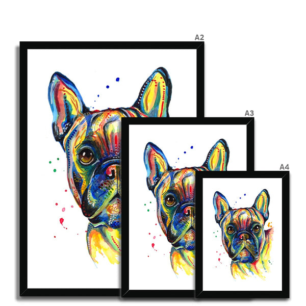 French Bulldog framed Print Size Guide